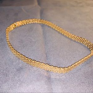 Gold tone costume jewelry thick chain necklace